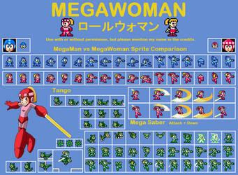 MegaWoman (RollWoman) Sprite Sheet V.2