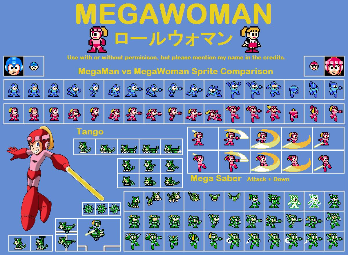 Megawoman Rollwoman Sprite Sheet V2 By Bleuvii On Deviantart