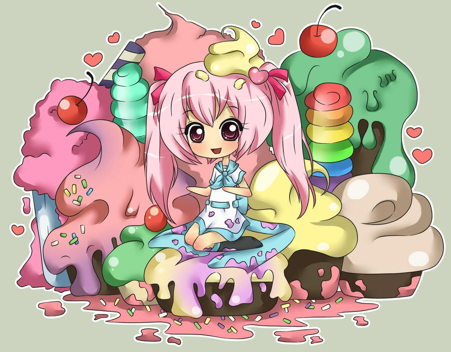 Toki Contest: Melted Ice Cream by Kimi-Juu