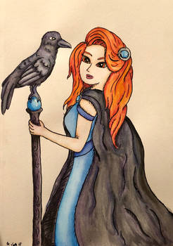 Day one of Inktober (Raven)