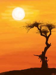 Savanna Sunset by JelliedFox