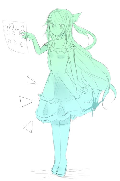 Fullbody anime sketch sample by xkawaiipandax3