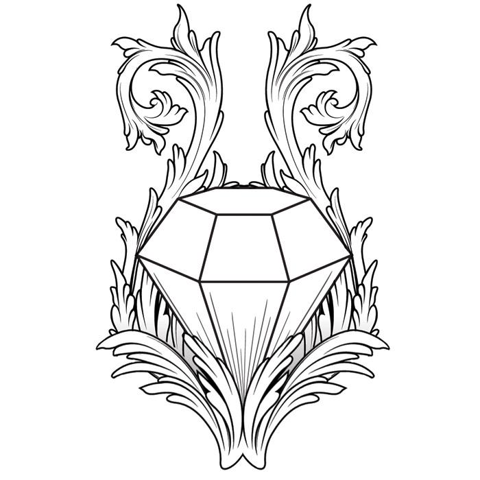 Diamond Tattoo by blind-art on DeviantArt