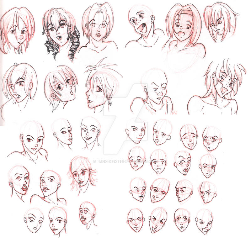 how to draw faces deviantart