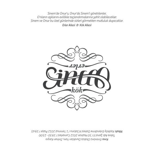 sinem and onur wedding invitation