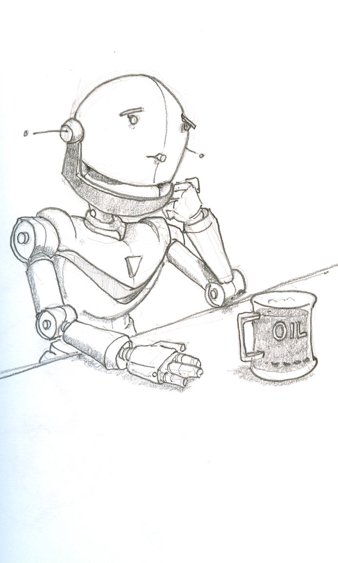 Robot drinking by Penc...