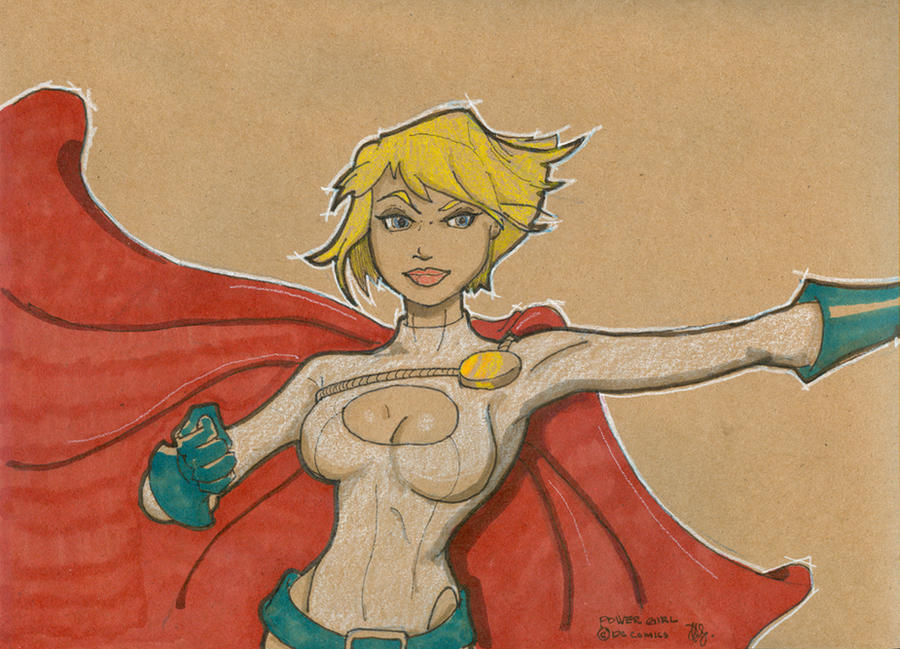 Power Girl 1 by Pencilbags