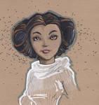 Princess Leia - sketch dailies