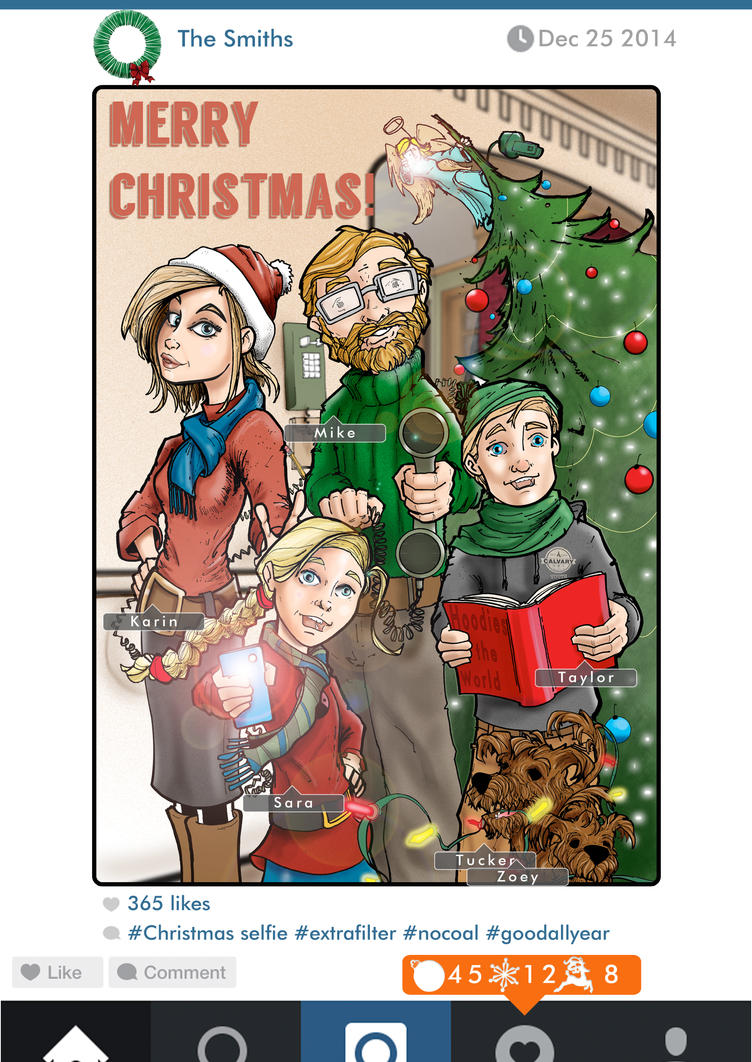 2014 Christmas Card Front by Pencilbags