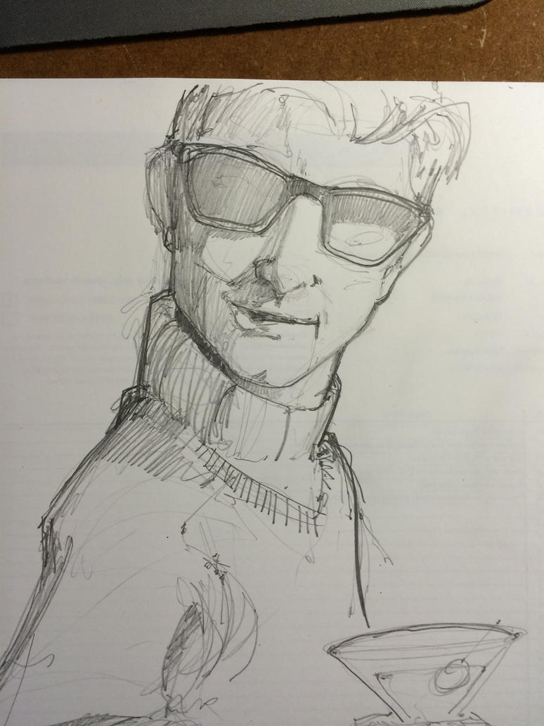 Sixties Dude Sketch by Pencilbags