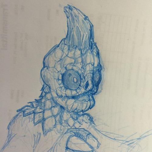 Sleestak Sketch by Pencilbags