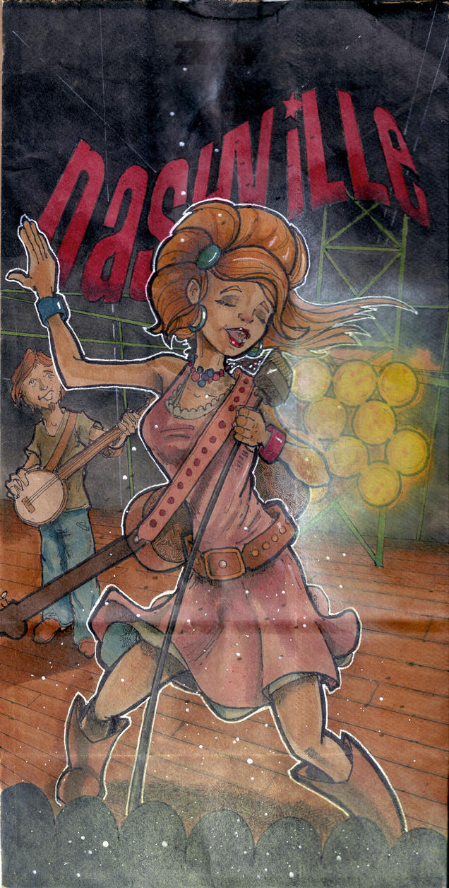 Nashville Singer Lunchbag by Pencilbags
