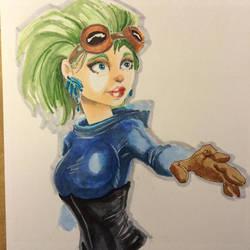 Steampunk Girl Sketch