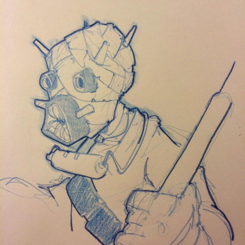 Tusken Raider Sketch by Pencilbags