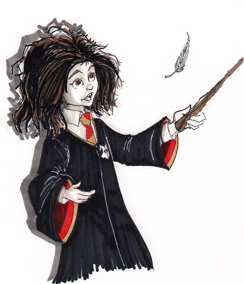 Hermione  - Inktober #1 by Pencilbags