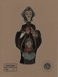 Snape - Inktober #4 by Pencilbags