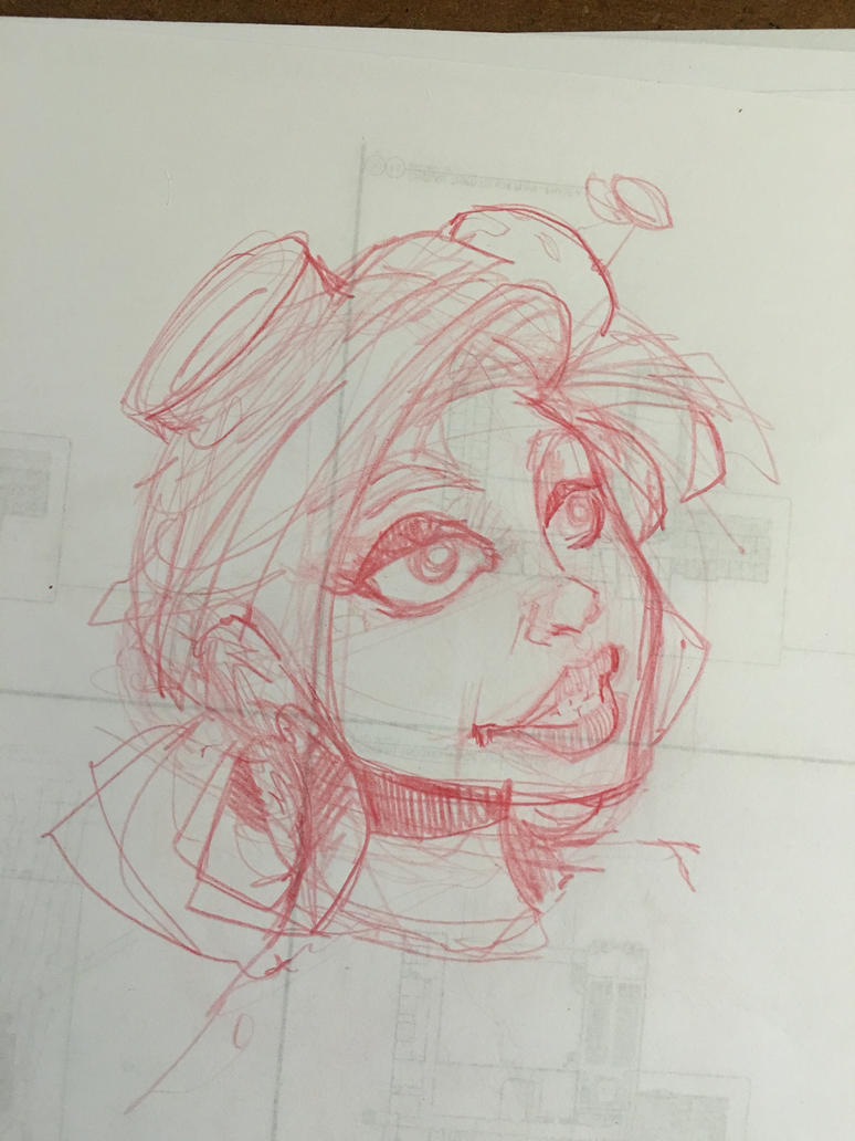 Steampunk girl sketch IX by Pencilbags