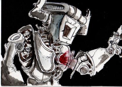 Robot Dragon Slayer Card 2 by Pencilbags
