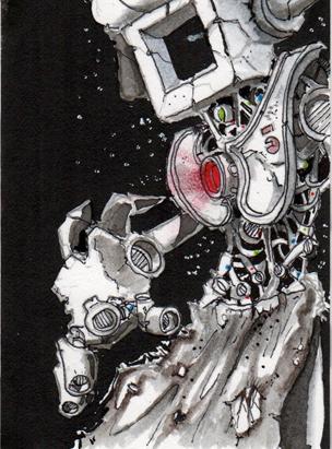 Robot Dragon Slayer Card 3 by Pencilbags