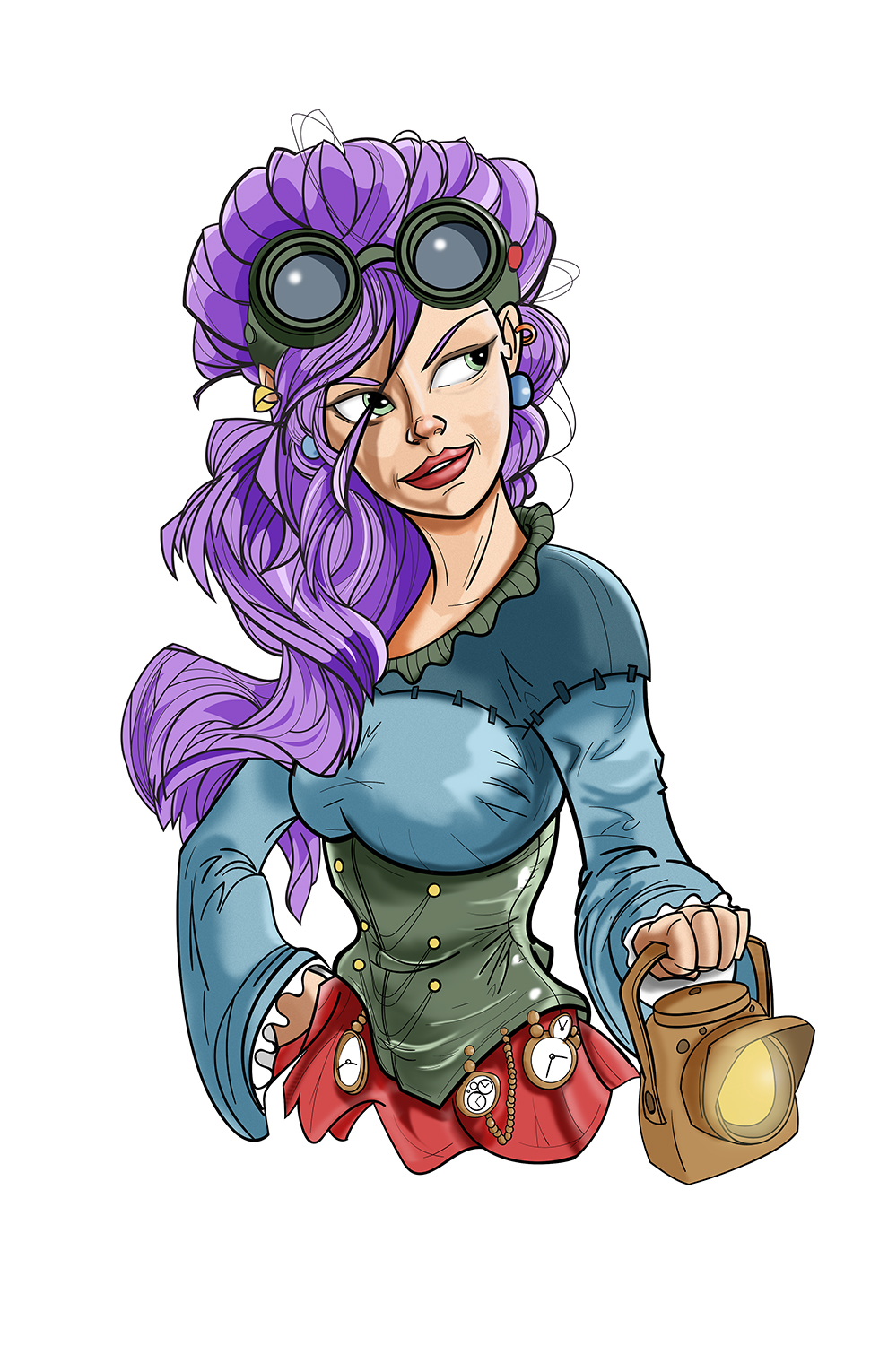 Character Design Hairstyles : Steampunk character design hairstyle by pencilbags on