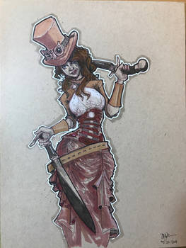 Steampunk Character Design by Pencilbags
