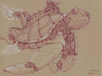Steampunk Turtle Airship