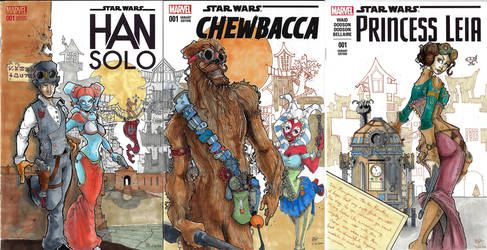 Steampunk Star Wars covers connected