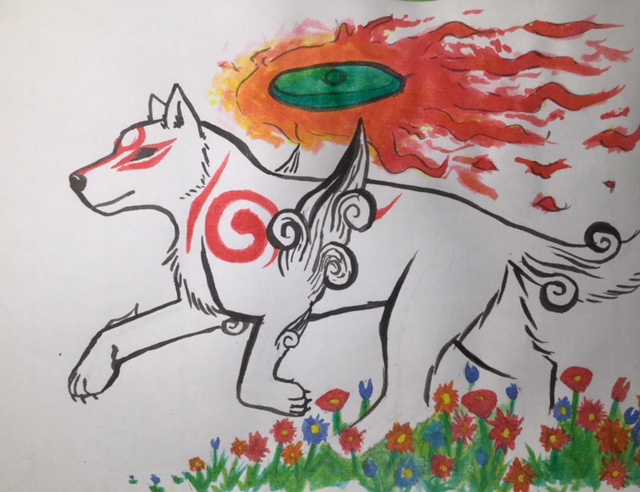Amaterasuuuu! - Okami by CreativeCheetah