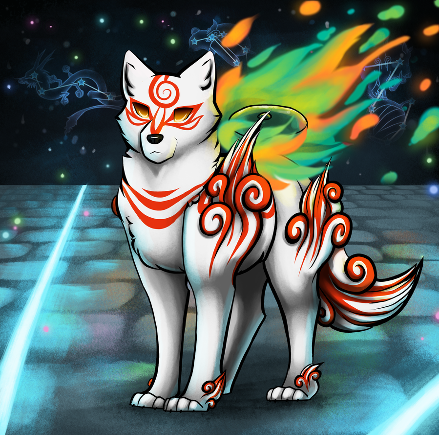 Shiranui - Okami (+speedpaint) by CreativeCheetah