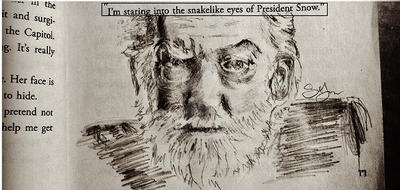 President Snow Book Illustration by Callused