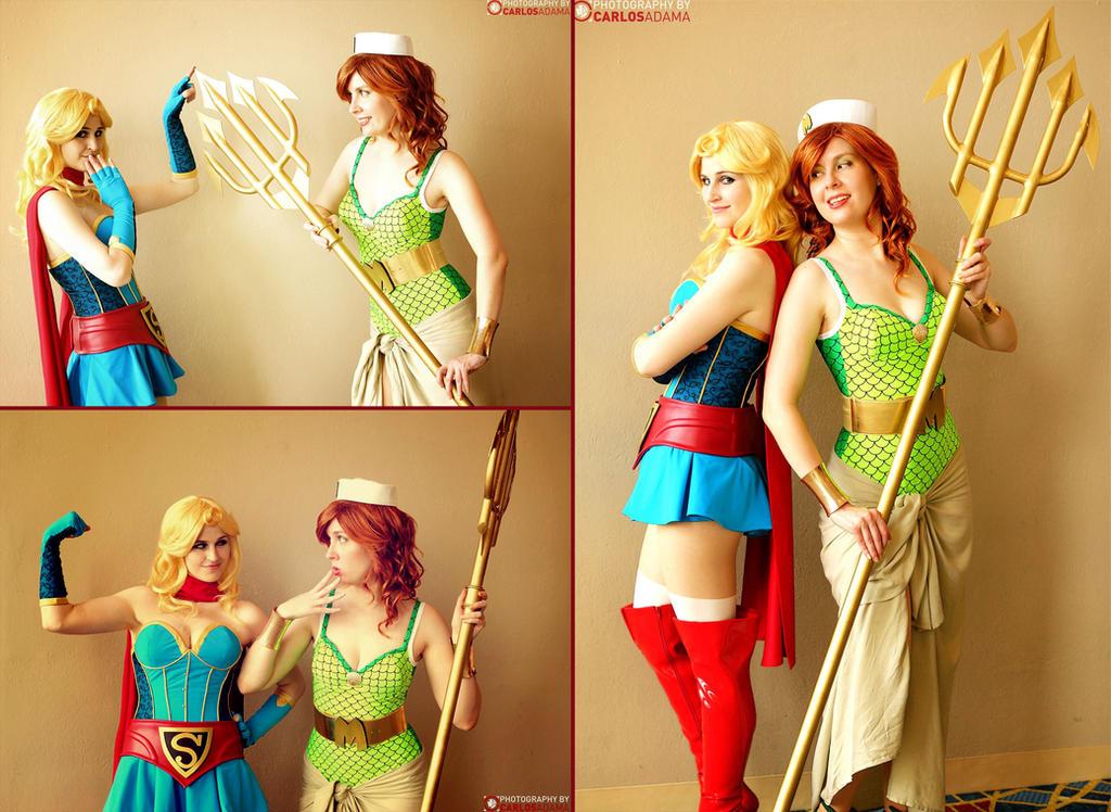 Supergirl and Mera by Yashuntafun