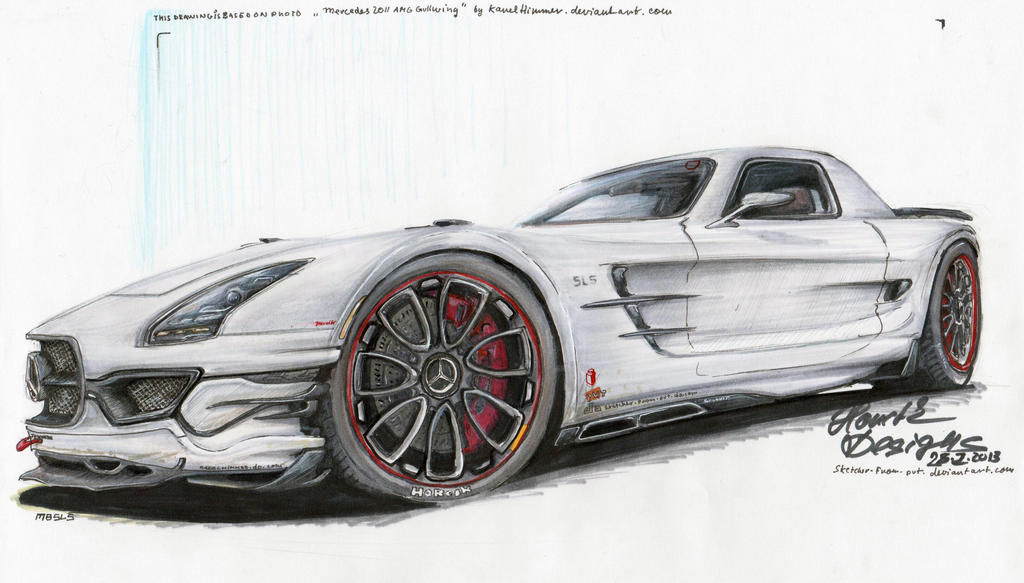 MB SLS - 'Dirty Snowwhite' by HorcikDesigns