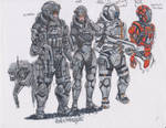 Soldiers quick sketch