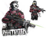 Bulleteater, bounty hunter from outer ring