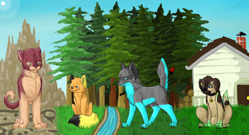 4 terrains - COMMISSION by ScottishPeppers