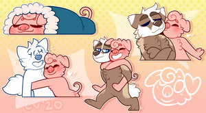 PIG STICKERS - Comm