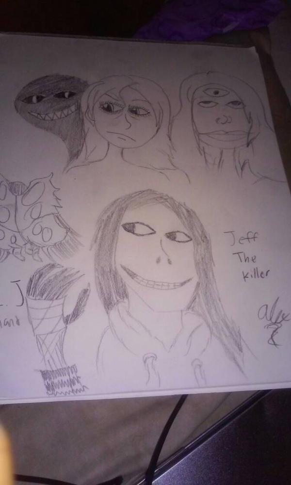 Creepy doodles  by ThaDeviousHyena93