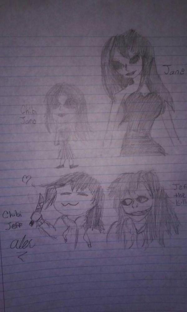 Jeff and Jane doodles  by ThaDeviousHyena93