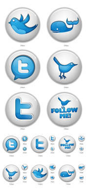 Twitter button icons