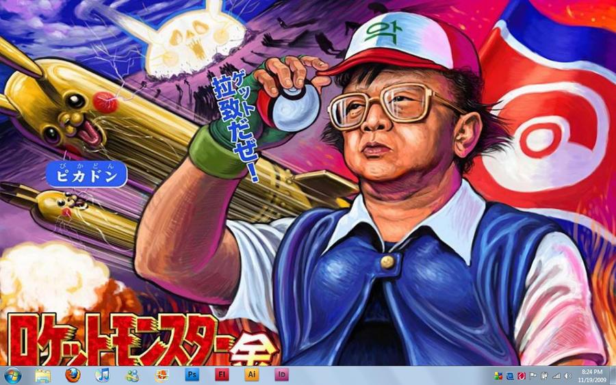 Kim Jong-Il: Pokemon Master by thedarkchao93