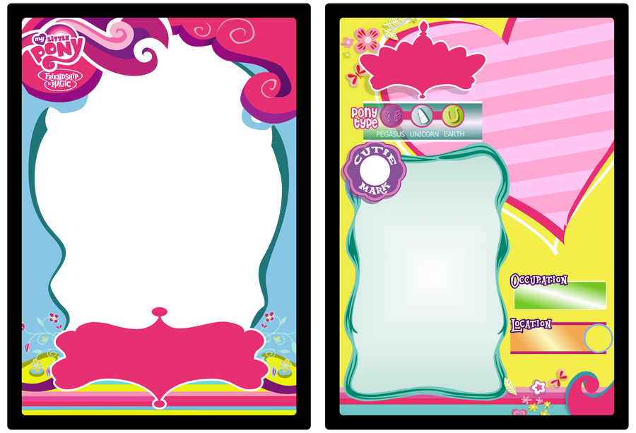 MLP:FiM Trading Card Base by ScarleyKwinn
