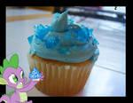 Spike's Sapphire Cupcake