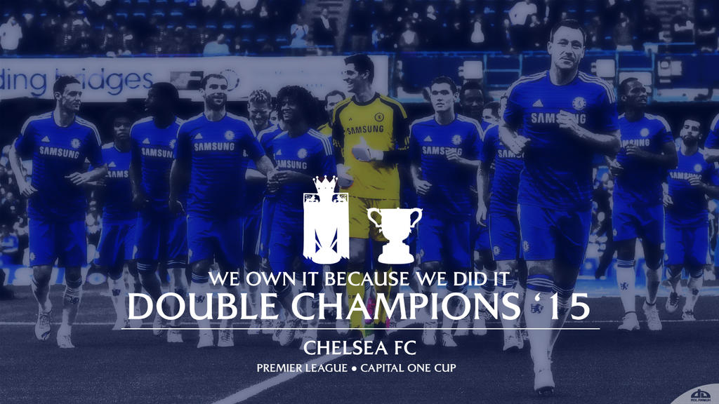 Chelsea FC Double Champions 2015 Wallpaper By Adlanmuh