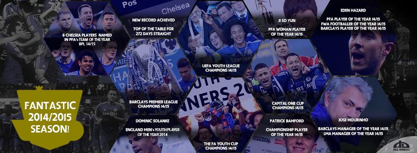 Cover Facebook Chelsea FC Achievement In 2014 2015 By Adlanmuh
