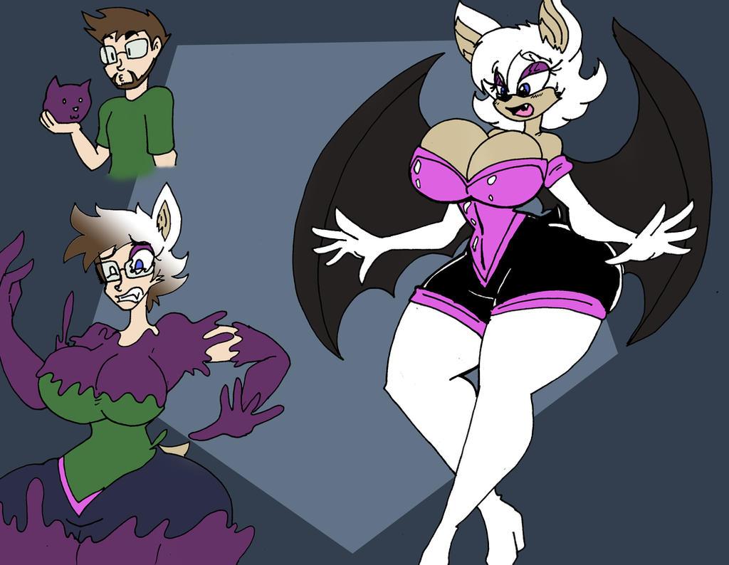 Com Rouge The Bat Tgtf By Da Fuze-colored By Megabluex On
