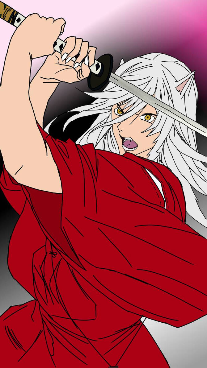Inuyasha With The Tenseiga By Quan El On Deviantart