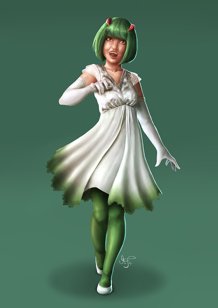 Kirlia Gijinka by Cid-Moreira12