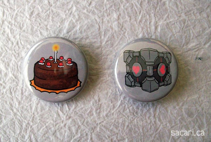 Portal Button Set by Sacari