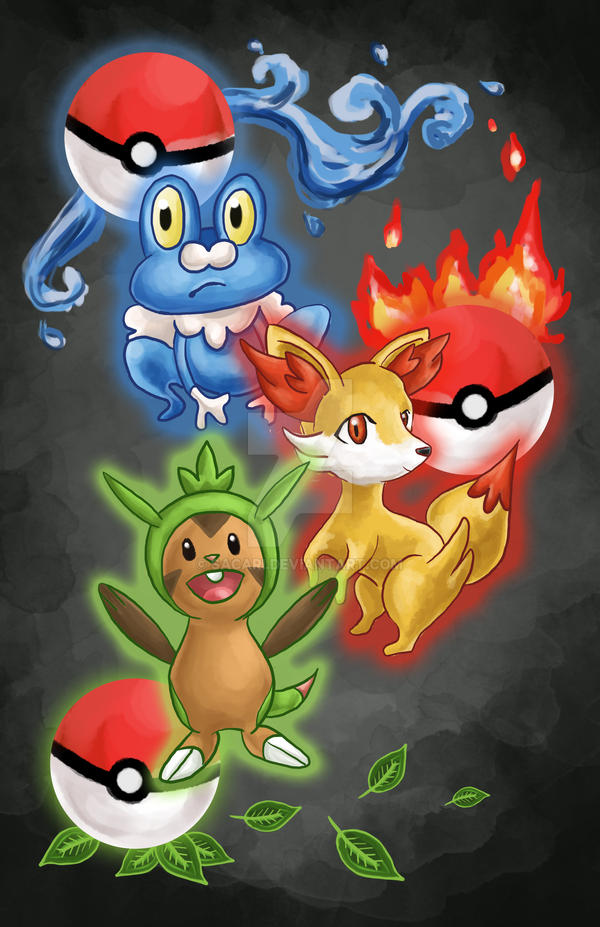 Pokemon x and y starters poster by sacari on deviantart pokemon x and y starters poster by sacari voltagebd Gallery