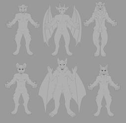 F2U Assorted Anthro Bases by contrabeast
